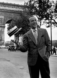 Fred Astaire tossing his hat                                                                                                                                                                                 More