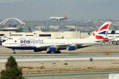 Oneworld (British Airways) - Boeing 747-436 (G-CIVK) - LAX