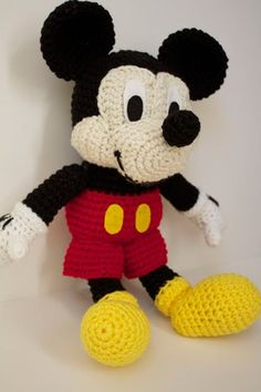 Pattern of a Mickey Mouse plush toy.Use these cute Hippo Amigurumi Crochet Patterns to create wonderful stuffed animals with enough unique shape to make them instant favorites with children. Not a free pattern but pictures step by stepRecently, I've been Crochet Gifts, Cute Crochet, Crochet Baby, Crochet Dolls Free Patterns, Amigurumi Patterns, Sewing Patterns, Crochet Mickey Mouse, Mickey Mouse Doll, Crochet Mignon