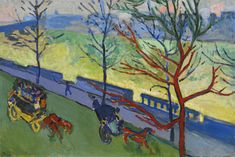 André Derain 1880 - 1954 LONDRES: LE QUAI VICTORIA signed A. Derain (lower left) oil on canvas 66 by 98.5cm. 26 by 38 3/8 in. Painted in 1906-07.
