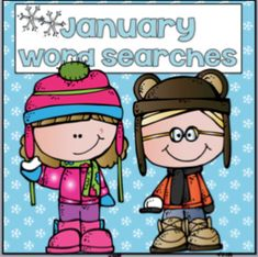Your class will love these word searches. They are perfect for independent work, centers, I'm done what next!!! The packet includes a bonus calendar that includes special January dates. Topics include: New Years Day New Years Eve Martin Luther King Penguins Popcorn Cake Opposite Hats Puzzles Enjoy these activities. Visit this site to learn more!! Bundle and Save!!