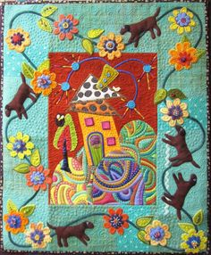 Collaborative quilt by Tonye Belinda Phillips and Sue Spargo