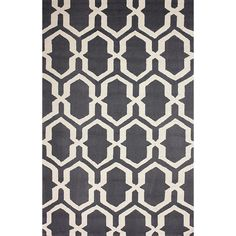 nuLOOM Hand-hooked Trellis Grey Rug (7' 6 x 9' 6) - Overstock Shopping - Great Deals on Nuloom 7x9 - 10x14 Rugs