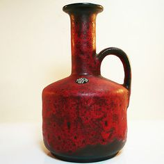 Ruscha Keramik Vase • West German Pottery • Fat Lava • Mid Century