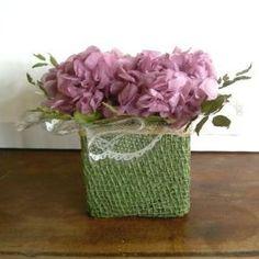 arranjo hortênsia lilás  cabeça de hortênsia natural preservada lilás e avencão desidratado