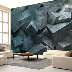 tapeten design 3d wohnzimmer