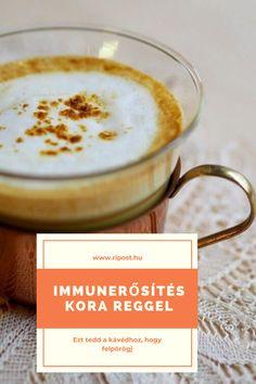 Így lesz finom és egészséges a kávéd #kávé #gyömbér #fahéj #chili #kurkuma #méz Chili, Turmeric, Chile, Chilis
