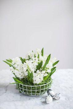 modern floral basket