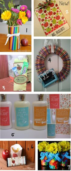 #papercraft #teacher #gifts Great ideas for teacher gifts