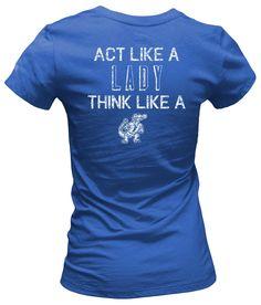 "Florida Gators "" Act Like A Lady Think Like A Gator"" T-Shirt #BeallsFlorida #GoGators"