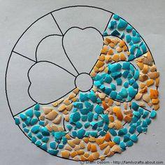 Mosaico de Casca de Ovo