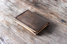 Not All Who Wander Are Lost Wallet Handmade Leather by JooJoobs