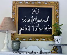chalkboard paint ideas!