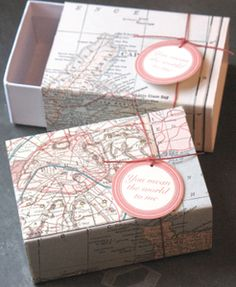 Vintage Map Box. Nice small give a way