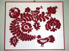 Papírvilág: quilled wall picture / magyar népmesés tabló