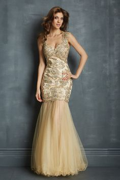 Shop Classic Prom Dresses V Neck Mermaid Trumpet Floor Length Tulle Champagne With Applique Beads in trendy styles, semi & formal gowns affordable online. Wide selection fashion dresses and more party gowns at incredible low price!