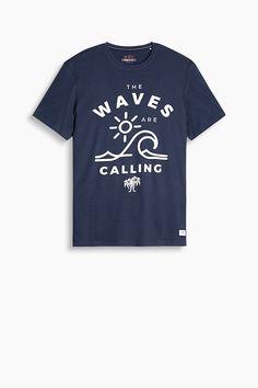 edc - Print-Shirt aus Baumwoll-Jersey im Online Shop kaufen