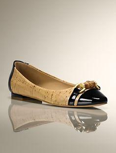 Talbots - Remy Patent and Cork Capped-Toe & Heel Flat | | Medium