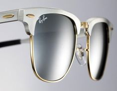 Iconic Ray-Ban Clubmaster Aluminium: a mix of modern material and vintage style l #sunglasses