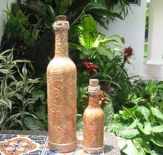 Reciclaje de botellas con cáscara de #huevo  #HuevoSanJuan
