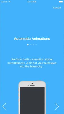 BWWalkthrough (BWWT) is a class that helps you create Walkthroughs for your iOS Apps