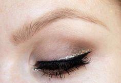 Black and glitter eyeliner