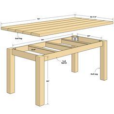 Build a Simple Reclaimed Wood Table diy table Diy Dining Table, Diy Outdoor Table, Diy Farmhouse Table, Diy Patio, Farm Table Diy, Farm Table Plans, Wooden Table Diy, Wooden Garden Table, Diy Picnic Table