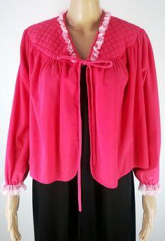 Vintage Bed Jacket 1960's Lace Trim Pink Nylon Peignoir Vintage Lingerie 60's Glamour Brentford's Robe Size 38/40 by RadicalMaudVintage on Etsy