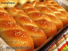 Croatian Recipes, Hungarian Recipes, Hungarian Food, My Recipes, Bread Recipes, Cake Recipes, Bread Dough Recipe, Bread Rolls, Dinner Rolls