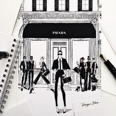«JUST LAUNCHED!!! My new Limited Edition Print Collection has just been released. It's titled FASHION DOORS - 8 highly detailed illustrations of Fashions…»