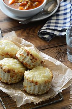 Savory Thyme and Swiss Cheese Scones Recipe #baking