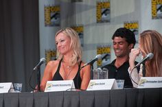 During the Covert Affairs panel, somebody asked Kari what her character would do if on the show her husband was fired and her character Joan was offered his job- would she take it. Kari hemmed and hawed for a bit, so much so that Peter Gallagher made I like this one