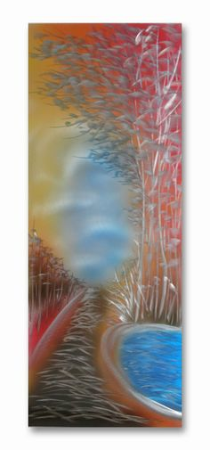 Material: Hand-painted aluminum Finish: Clear coated lacquer Weight: 3lbs. Hangers: Included on back  Usa