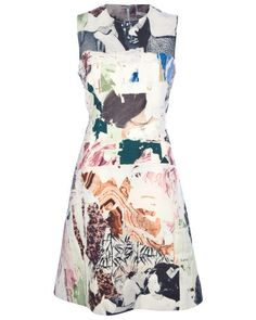Click to Shop - CARVEN MULTICOLOR SLEEVELESS GRAPHIC DRESS, SIZE 36
