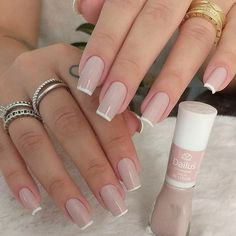 Professional course of gel and fiberglass nails - unhas - French Manicure Nails, Manicure And Pedicure, French Tip Nails, Stylish Nails, Trendy Nails, Perfect Nails, Gorgeous Nails, Fiberglass Nails, Cute Toe Nails