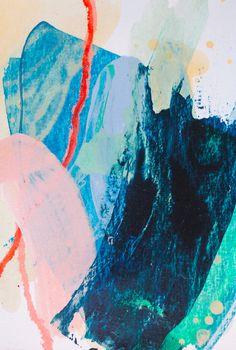 Magic card #14. Acrylic, pastel on paper, 10x14 cm. Acrylic painting.
