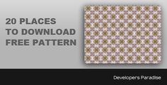 20 Places to Download Patterns