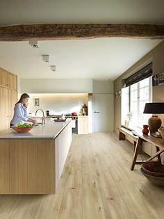 BALTERIO Impressio IM106 Garda Oak Wooden Flooring, Laminate Flooring, Kitchen Flooring, Interior, Table, Floors, Furniture, Design, Home Decor