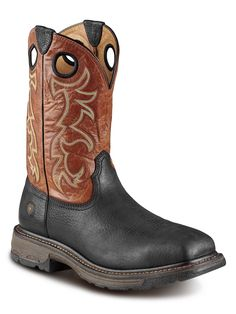 Mens Ariat Black Workhog Steel Toe Boots 10009493 - Texas Boot Company is located in Bastrop
