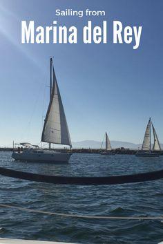 Sailing from Marina del Rey #PacificOcean #California #Travel #Sailing #Adventure #MarinaDelRey