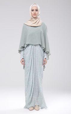 Long Dress Yuniar Kombinasi Sifon