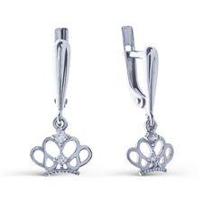 Серьги из серебра 925 пробы с фианитами (арт. 0201107-00775) - ювелирный магазин LINIILUBVI.RU