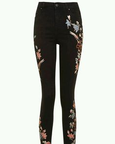 Embroided jeans ❤