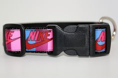 New to TheCollarAuthority on Etsy: Nike Pink and Burgundy Dog Collar/ Nike Collar/ Exercise Collar/ 1inch  Adjustable Dog Collar (15.00 USD)