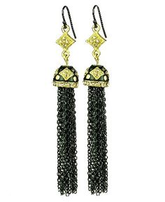 Chelsea Hill Tassel Earrings, Oxidized Chain with Gold-Tone Bell Cap Dangle Earrings Chelsea Hill http://smile.amazon.com/dp/B00EOA1UF6/ref=cm_sw_r_pi_dp_foFAwb1SC6X7D