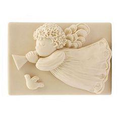 Molde de Silicona para Jabón, Angelote Volando. Precioso molde con el que podrás hacer jabones. Ideales para hacer tus  detalles, #hacerjabon con Gran Velada es muy divertido.