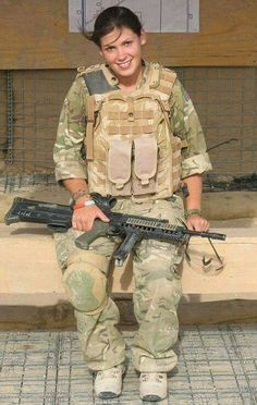 """Lance Cprl Kyle Watson of the Royal Army Medical Corps , who stands 5'1"""" in her Army boots is 1 of 4 woman in history to receive Military Cross for bravery as a Medic in time of war!"""