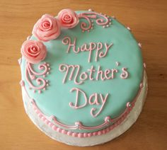 Pink & Blue Mother's Day Cake