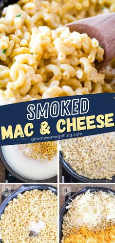 The all-American favorite made in a cast iron skillet! Full of real ingredients, this creamy homemade mac and cheese is so comforting and delicious. The subtle smoked flavor adds the finishing touch! Perfect for serving as a side dish! Save this recipe and try it! Easy Homemade Recipes, Healthy Pasta Recipes, Lunch Recipes, Vegetable Recipes, Breakfast Recipes, Vegetarian Recipes, Dinner Recipes, Noodle Recipes, Yummy Recipes