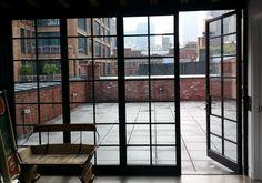 BiFold 1 Door Open steel windows